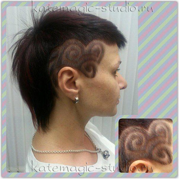 Креативный рисунок на короткие волосы