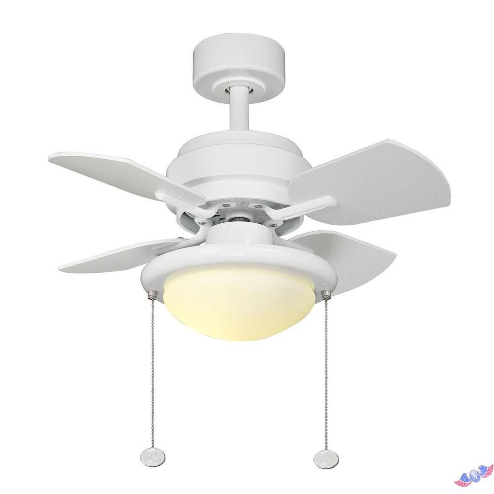 Hampton Bay Pull Chain Switch Classy Hampton Bay Metarie 24 Inwhite Ceiling Fan 795970 Ppp  Ceiling Decorating Design