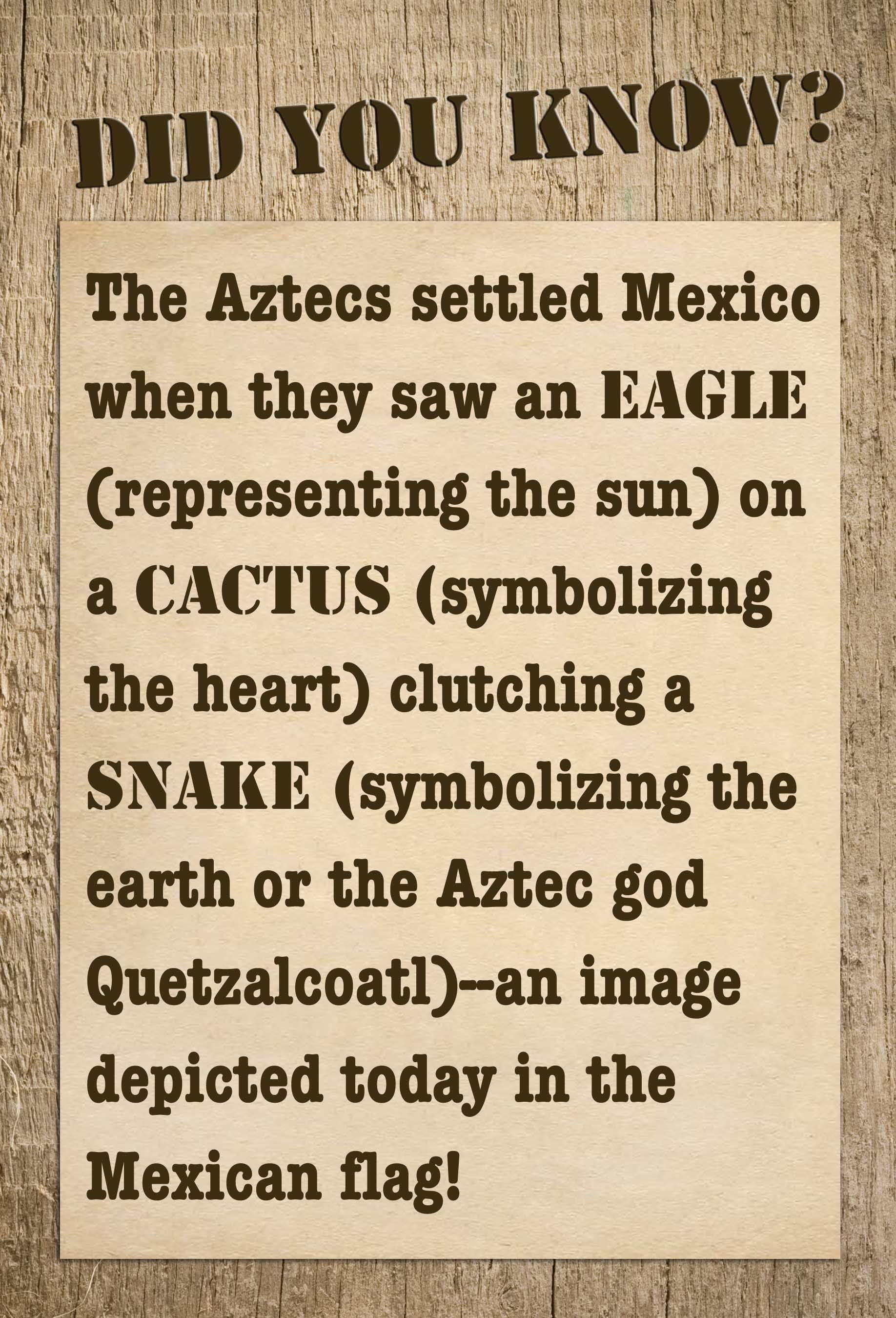 Important information to know and pass on to our children so they the mexican flag the aztecs sciox Image collections