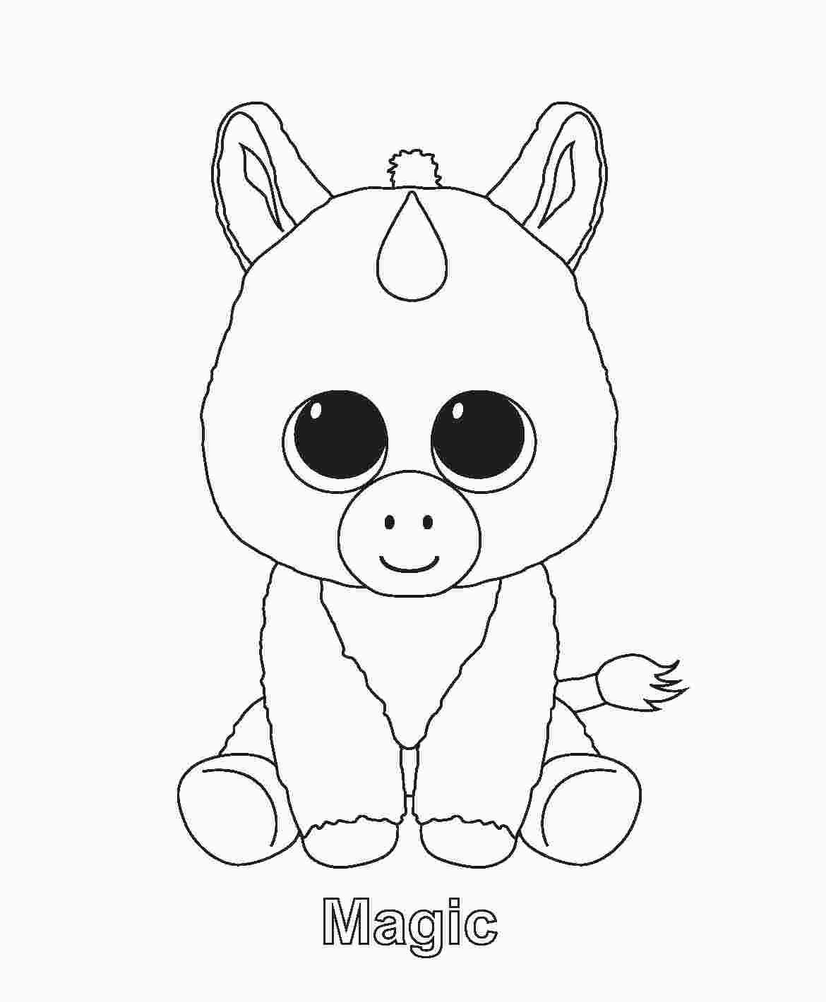 Beanie Boo Coloring Pages Baby Eenhoorn Kleurplaten Beanie Boo