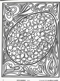 Egg2 Doodle Coloring Coloring Pages Easter Coloring Pages