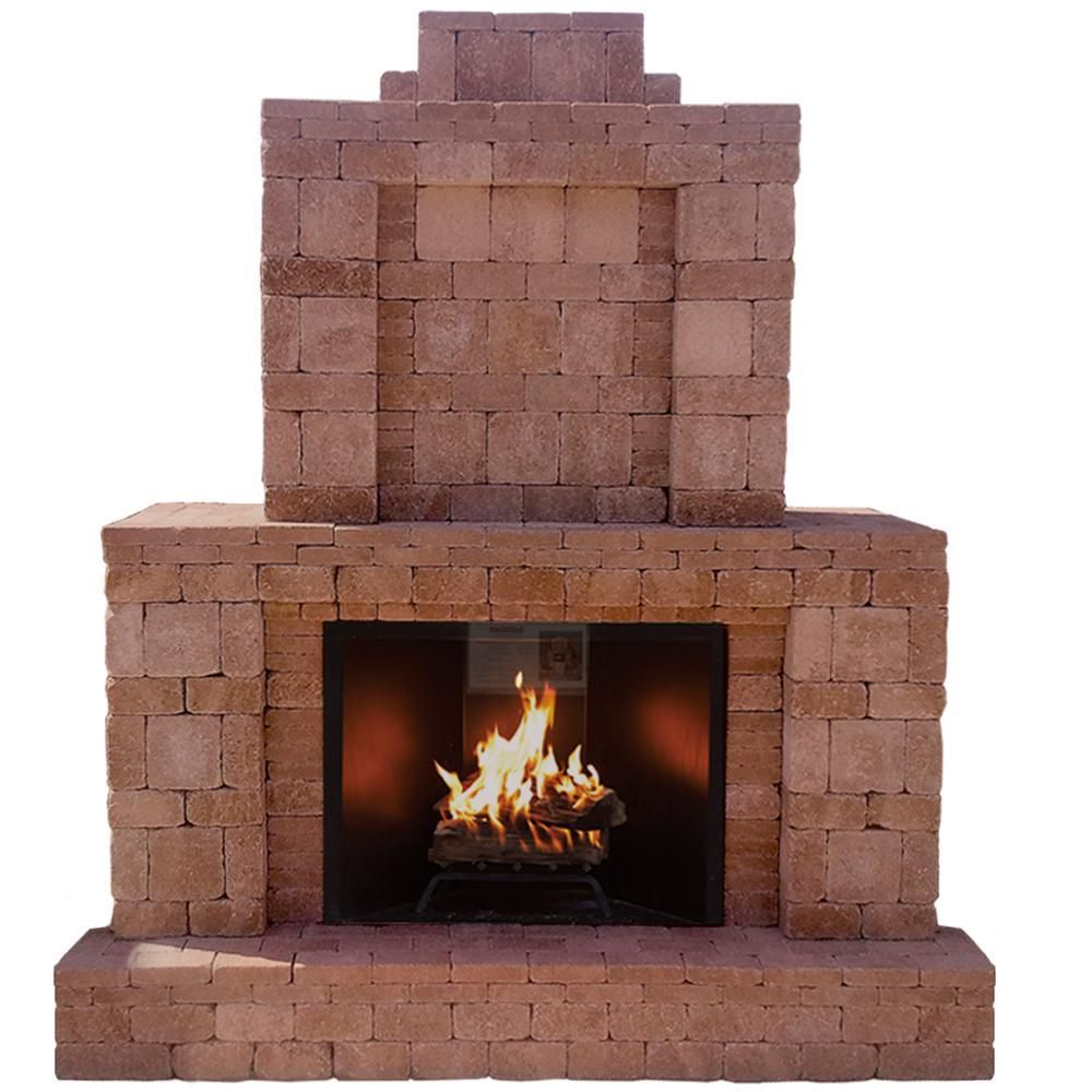 RumbleStone in x in x in Outdoor Stone Fireplace in