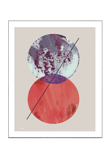 Add this bright art print to your gallery wall.