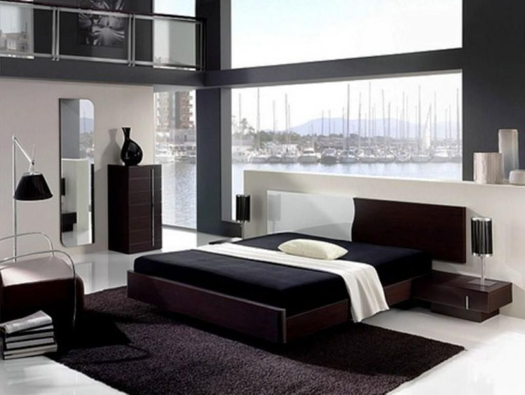 elegant-modern-black-bedroom-decorating-ideas-for-mens-apartment