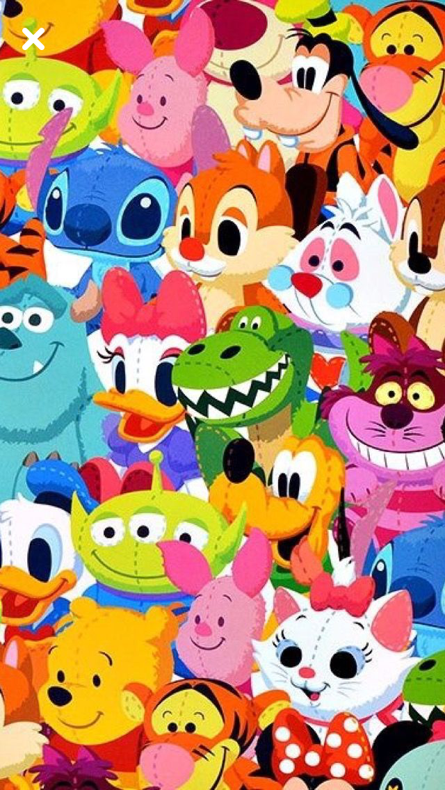 Disney Characters For Mobile Disney Friends Disney Characters Wallpaper Cute Disney Wallpaper