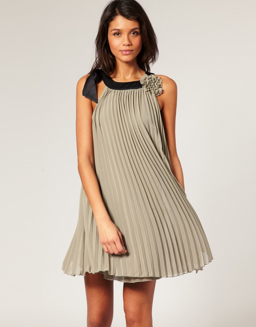 Asos lipsy pleated rosette dress would love this