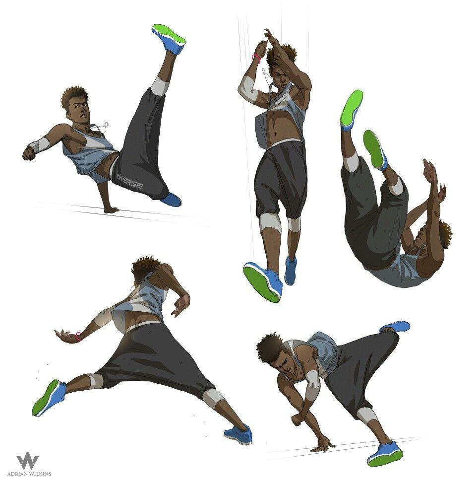 Jumping Kicking Falling Poses Character Design Character Design Inspiration Character Design References
