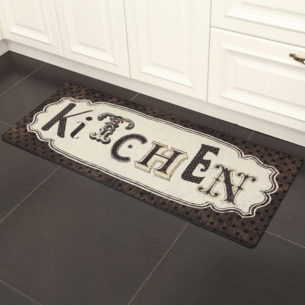 Ukeler Kitchen Rug Nonslip Kitchen Floor Mat Waterproof Laundry