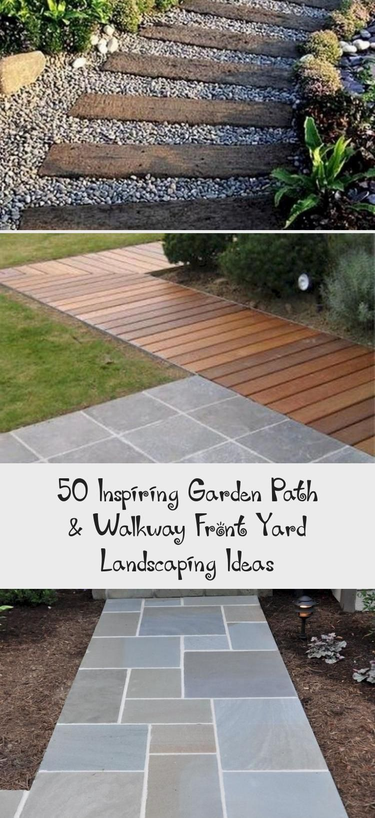 50 Inspiring Garden Path Walkway Front Yard Landscaping Ideas Architecture 50 Inspiring Garden Path W In 2020 Walkways Paths Small Yard Landscaping Garden Paths