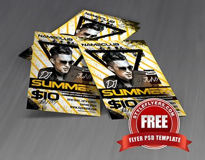 Check Out New Work Dj Summer Psd Flyer Template Event Part