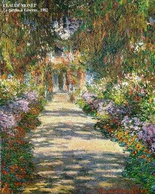 """Claude Monet Main Path through the Garden at Giverny""""Une Allée du jardin de Monet, Giverny"""" Claude MONET 1902 Österreichische Galerie, Vienna, Austri"""