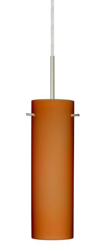 Besa Lighting 1BT-493080 Copa 1 Light Cord-Hung Pendant with Amber Matte Glass S