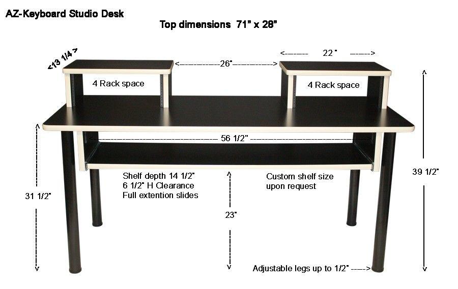 Azkeyboard studio desk home studio desk studio desk