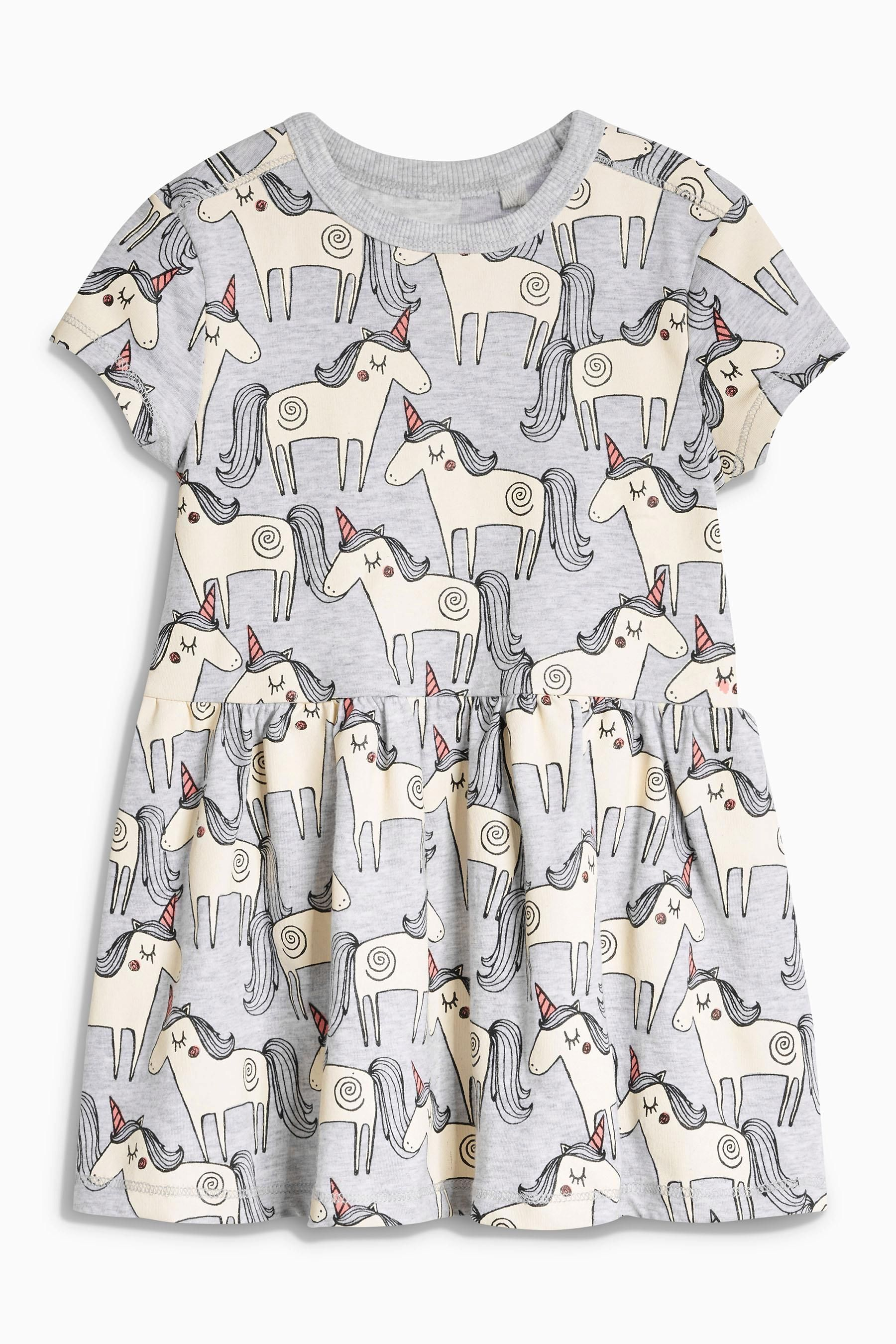 3c2d99022 Buy Grey Unicorn Tunic (3mths-6yrs) from the Next UK online shop ...