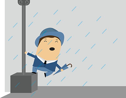 """Check out new work on my @Behance portfolio: """"Singing In The Rain Guy"""" http://on.be.net/1MQhVDj"""