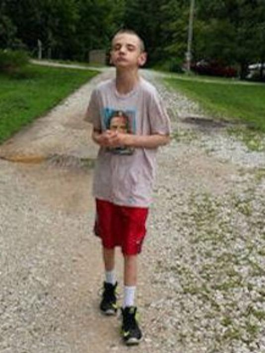 Male teenager wearing diaper #2