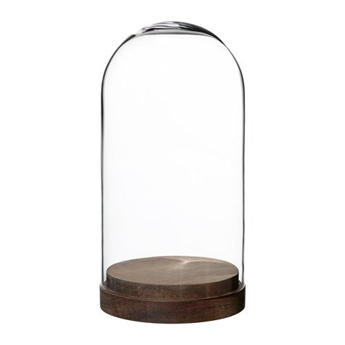 ikea h rliga cloche en verre sur socle la cloche en verre peut servir exposer vos plus. Black Bedroom Furniture Sets. Home Design Ideas