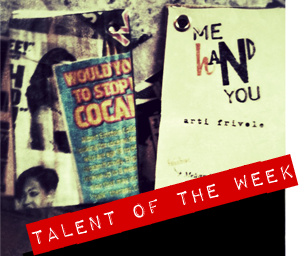 MERCATOMONTI HA SELEZIONATO PER TALENT OF THE WEEK   ME HAND YOU -