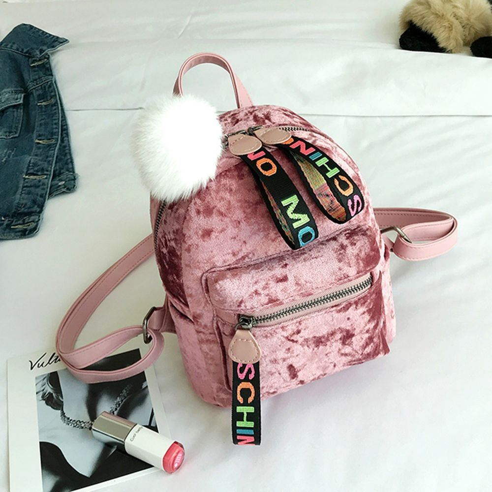 """JUSTICE Girls Ruby Red Velvet Logo Lace Up /""""MINI/"""" Backpack New With Tags"""