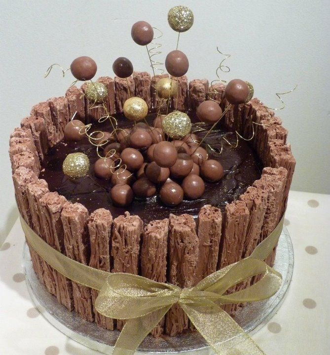 chocolate birthday cakes flake or ripple cakes Pinterest