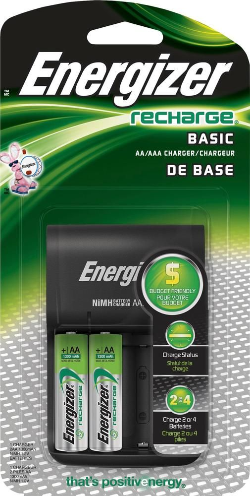 Energizer Recharge Basic Nimh Aa Aaa Charger Black Chvcwb2 Best Buy Energizer Nimh Charger