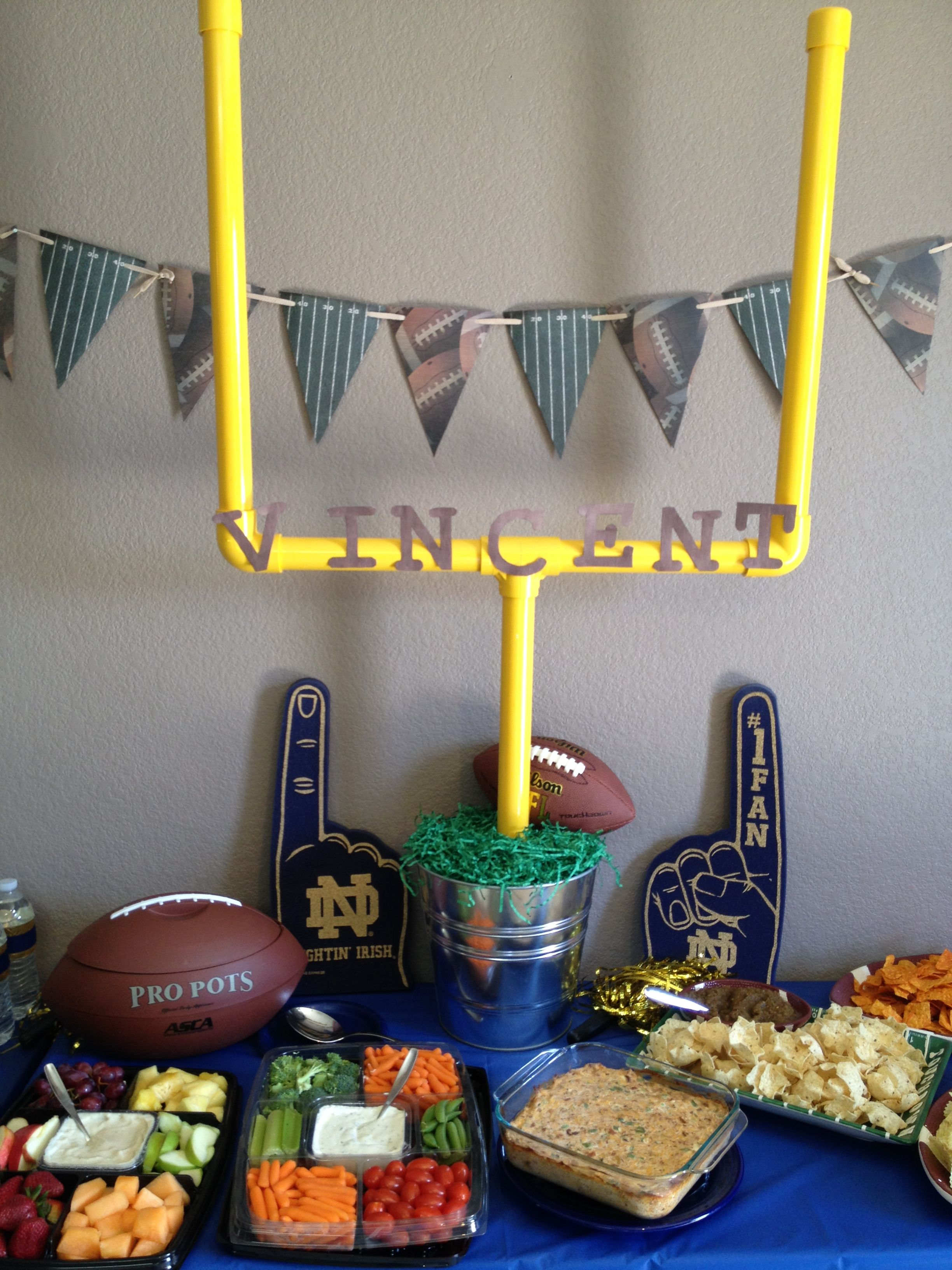 Football Baby Shower Ideas /// I Pinned The For The Food Ideas :)