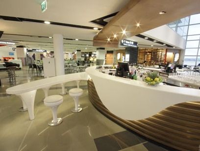 Imbibe bar at the sydney international terminal corian for International decor surfaces
