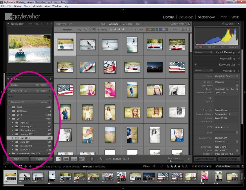 How much space does lightroom take up