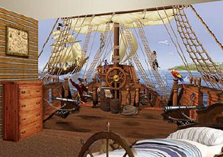 Decorating bedroom pirate decalshome decorating bedroom for Boys pirate bedroom ideas