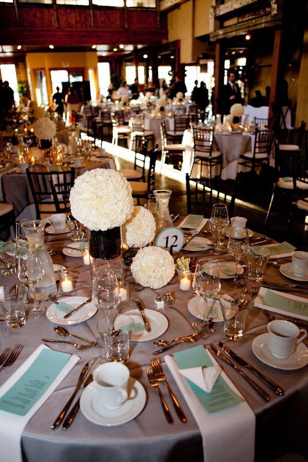 White And Ivory Floral Wedding Centerpieces With Light