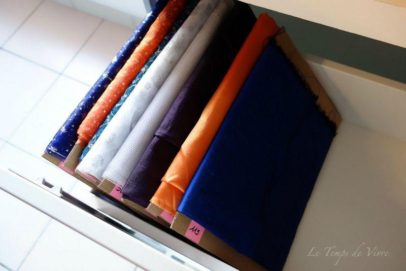 am nager son atelier 6 comment ranger et organiser ses tissus tuto inside le temps de. Black Bedroom Furniture Sets. Home Design Ideas