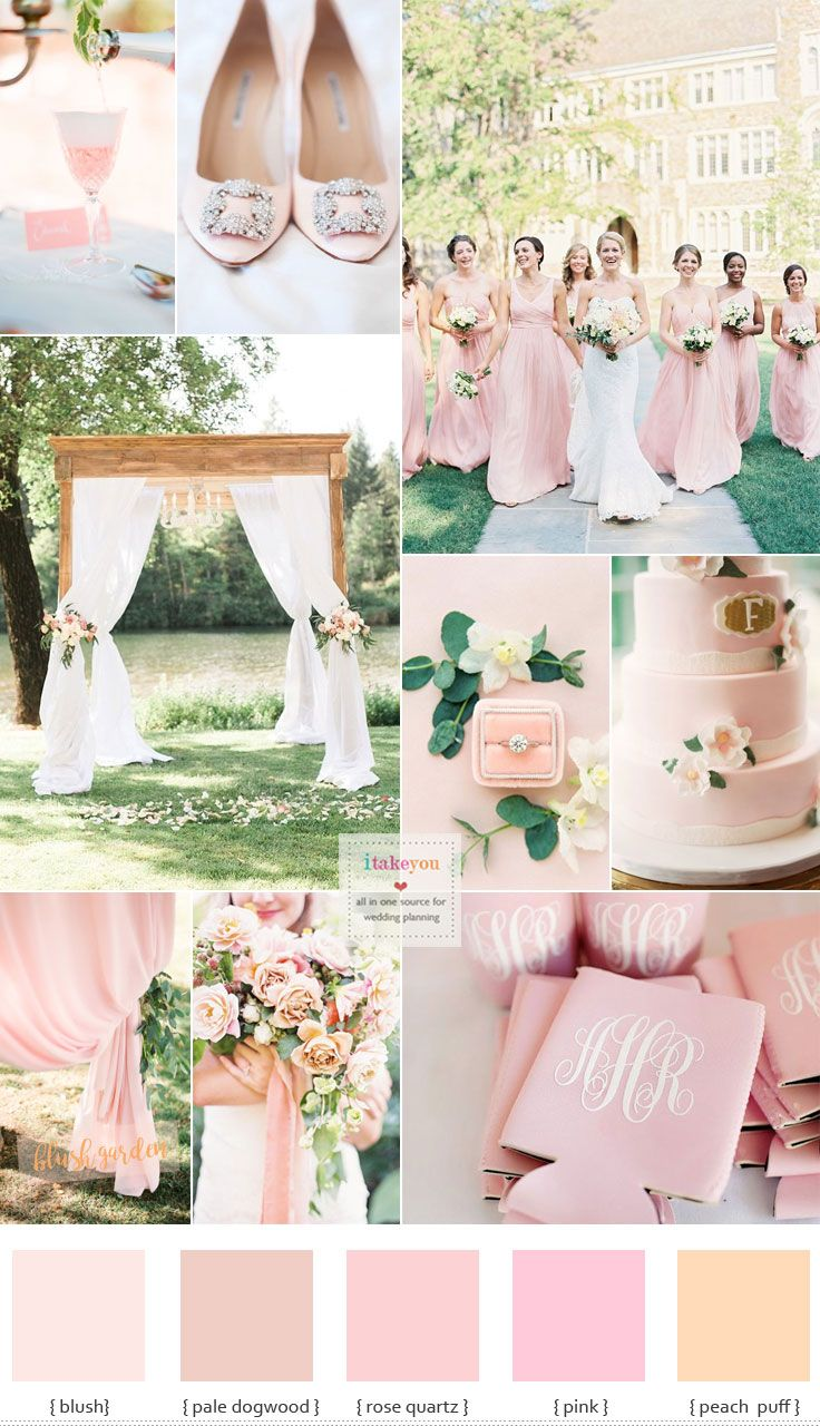 Blush Pink Wedding Theme Blush Bridesmaid Dresses For A Garden