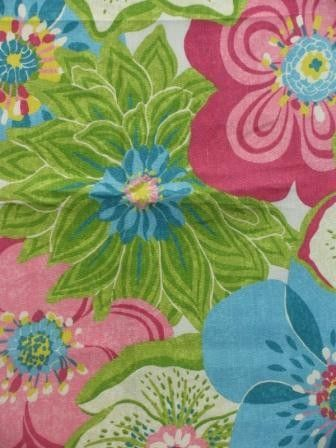 Lovely, rich, unique color range of pattern in fabric.  One day, when I have a beach house I will use this fabric!