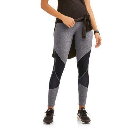N.Y.L. Sport Women's Active Contrast Block Performance Legging, Size: XL, Gray