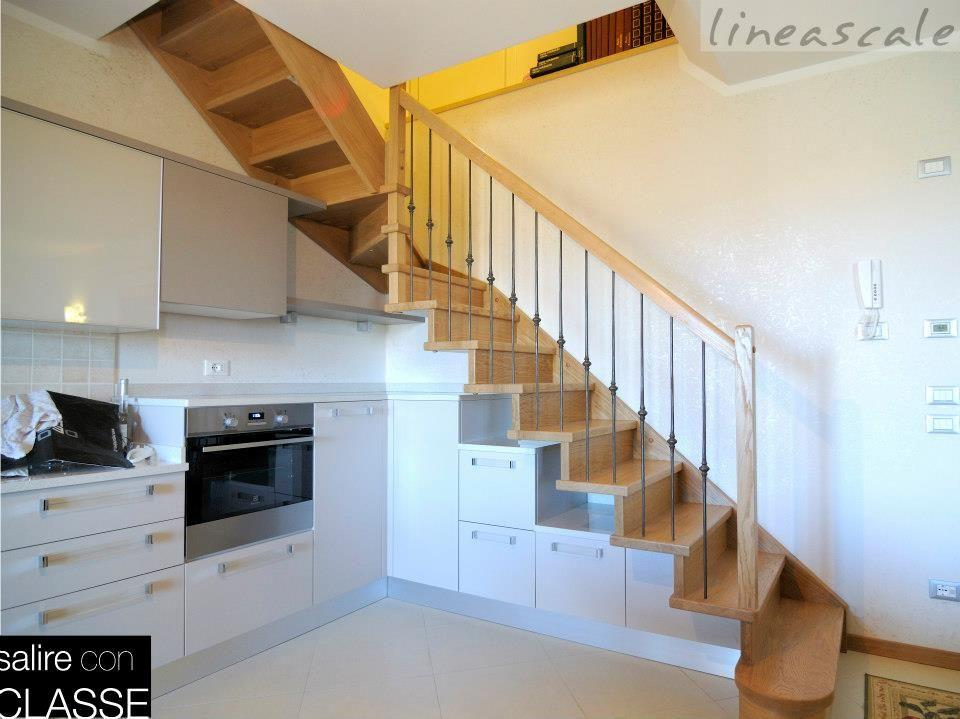Scale per interni a giorno in legno modello quarzo scala interna di design personalizzate con - Scale di ferro ...