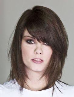 Ideal Haircut Dark Brown Hair Dark Violet Or Burgundy Streaks
