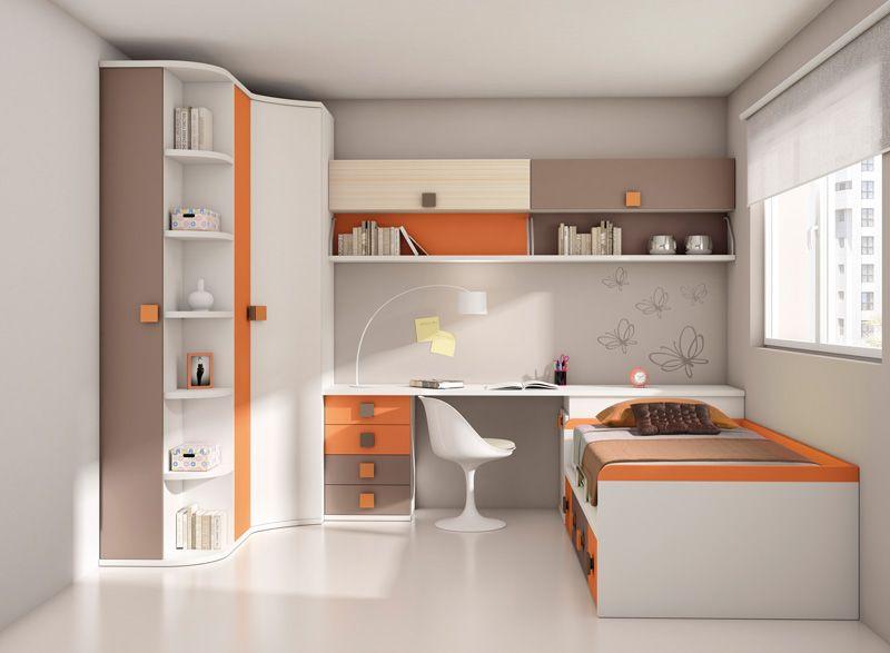 Muebles dormitorio juvenil orange hogar pinterest - Habitaciones blancas juveniles ...