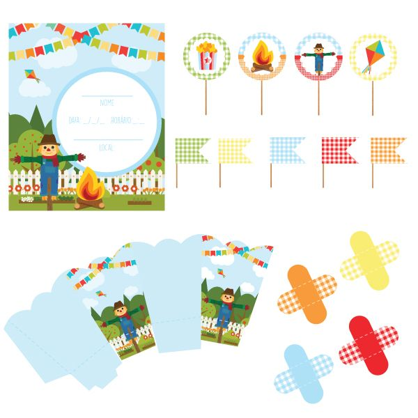 Festa Junina Papelaria Para Imprimir E Decorar A Festinha