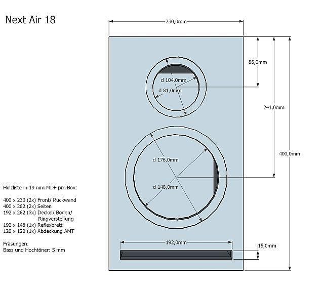 Nextair18 December 2015 Loudspeakermagazine 2015 Loudspeakerbuilding Speaker Box Design Speaker Box Diy Subwoofer Box Design