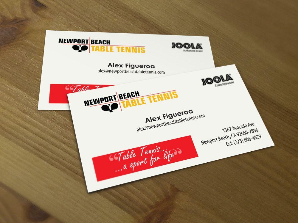 Newport Beach Table Tennis Business Cards | Print | Pinterest ...