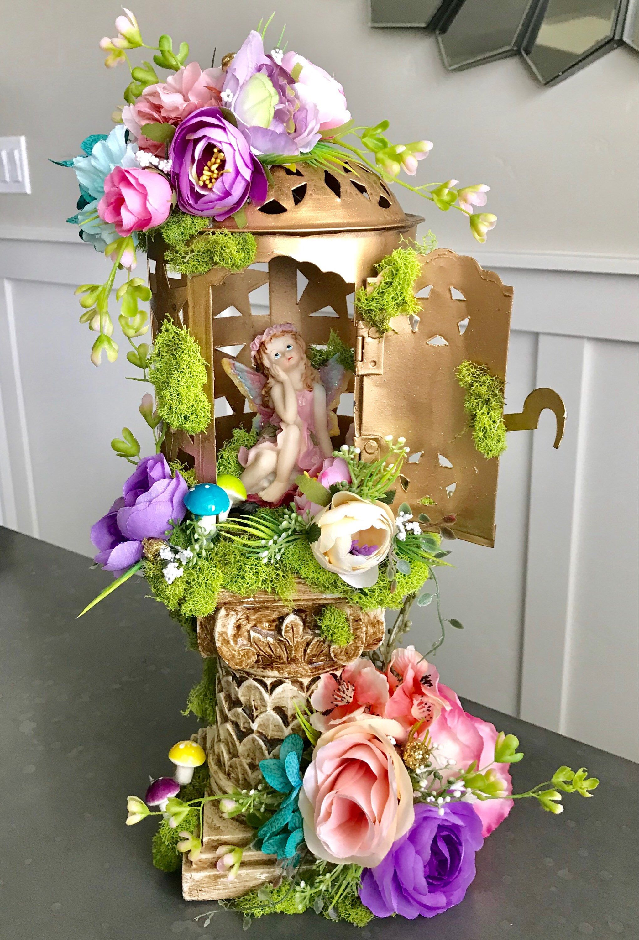 woodland theme decor ideas get the look at home.htm fairy centerpiece   enchanted forest  tinkerbell wedding  party  fairy centerpiece   enchanted forest