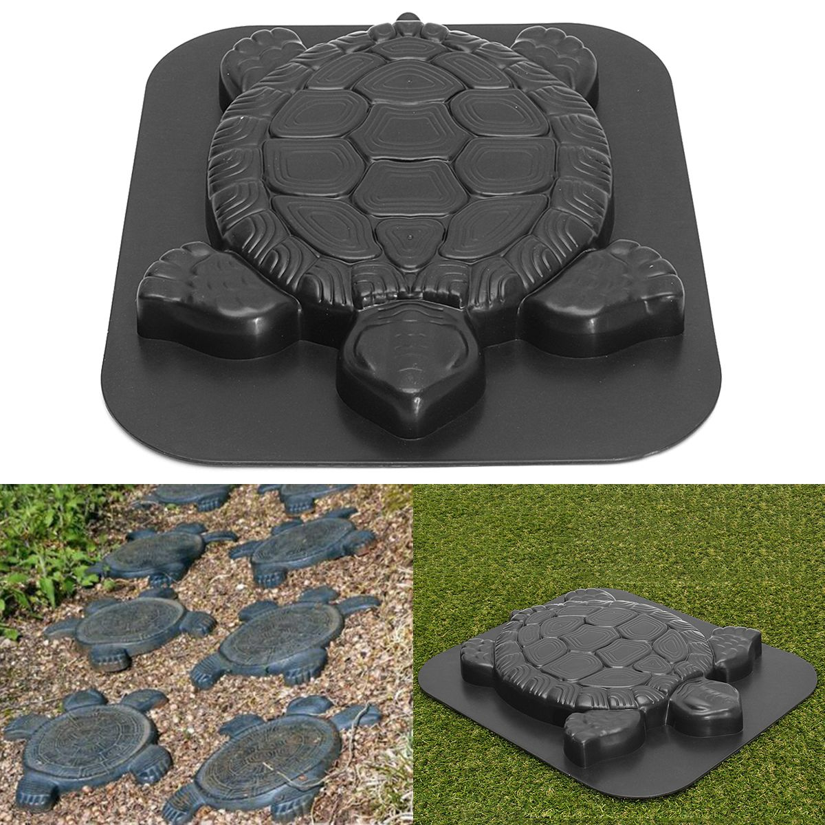 Creative Concrete Cement Mold, Turtle/Flower Design Stepping Stone Mould Paving Mold for Garden Park Path Walk Way - Walmart.com -   13 garden design Narrow stepping stones ideas