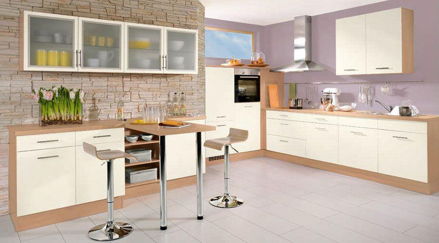 Küchen Meyer fronten in magnolienweiß kombiniert mit salomonzeder nachbildung