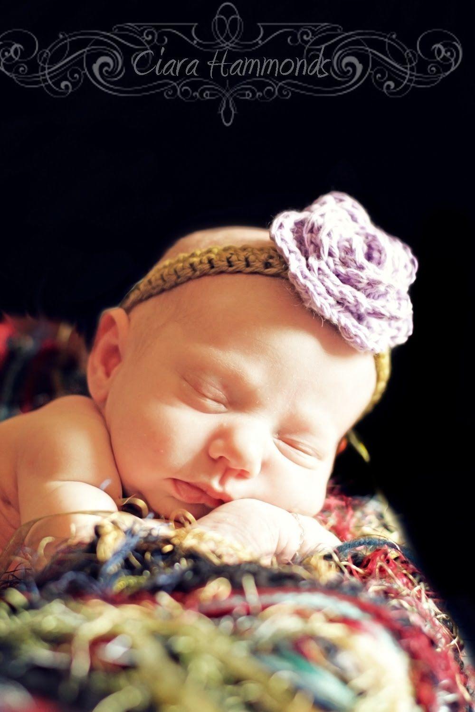 crochet baby headband | Häkeln | Pinterest | Häkeln