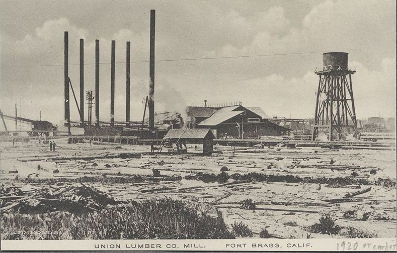 Union Lumber Company Mill Fort Bragg California 1920 Or Earlier Fort Bragg Mendocino County Fort