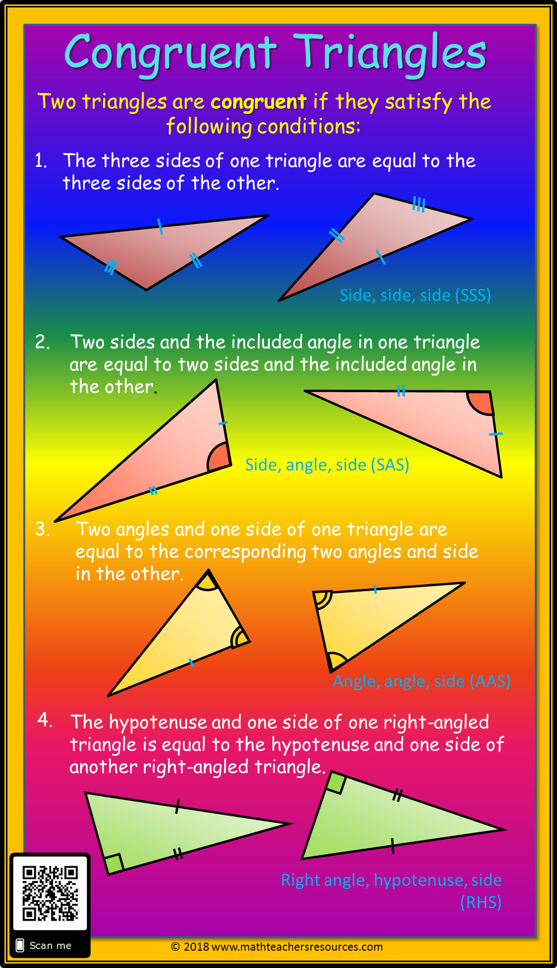 Congruent Triangles   Triangle rules [ 1955 x 1125 Pixel ]