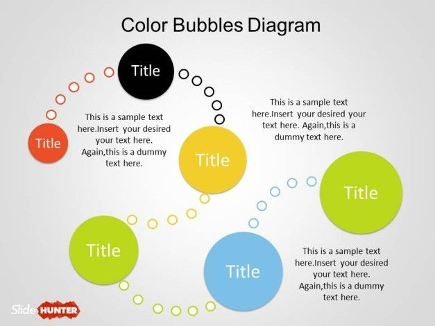 Color Bubble Diagrams For Powerpoint