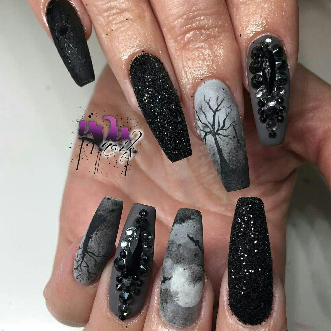 Pin by Βασιλική Καβαλιερου on Νύχια | Pinterest | Gothic nails, Nail ...