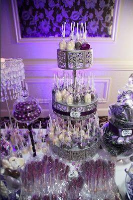 Purple Candy Buffet Ideas Purple Candy Buffet In 2020 Wedding Candy Table Purple Dessert Tables Purple Candy Buffet