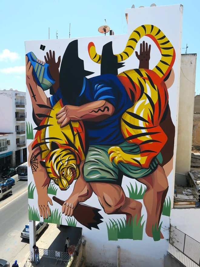 JAZ  .. for JIDAR – TOILES DE RUE ..  [Rabat, Morocco 2015] (close up)